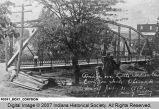 Bridge Over Little Indian Creek, Corydon, Indiana, Opened to Travel July 31, 1913