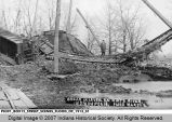 Break in Levee on White River, Indianapolis, Flood March 27, 1913
