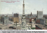 Bird's-Eye-View of Monument Place, Indianapolis, Ind.