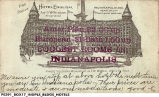 Postcard Advertising the English Hotel on Monument Circle