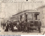 First streetcar in Plainfield, Indiana, 1904