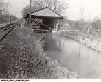 Duck Creek Aqueduct Covered Bridge at Metamora, Indiana Before Restoration, 1941