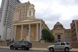 1855 Greek Revival St. Joseph County Courthouse in Front of the 1896 Beaux Arts Renaissance Style Courthouse