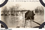 March 1913 Flood, B&O SW Bridge One Mile East of Medora, Indiana