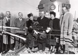 Ribbon Cutting for New Section of Monon Railroad Track in Cedar Lake, Indiana
