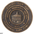 Indiana Historical Society Centennial Farm and Family Plaque