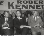 Robert F. Kennedy Seated with Winfield K. Denton and Senator Birch Bayh