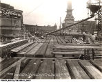Construction of the Guaranty Building on Monument Circle, 1922