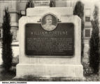 Memorial to William Fortune at Boonville, Indiana