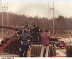 8 Inch Howitzer being Loaded with 200 lb. Shell