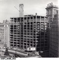Construction of the Fidelity Bank Building with Pine Tree on the Top Floor