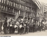 Boy Scout Band Celebrating Armistice, Nov. 11, 1918