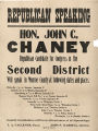 John Chaney 1904 Political Poster