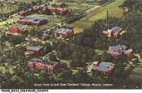 Aerial View of Ball State Teachers' College, Muncie, Indiana