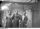 Portrait of Three Young Women in the Photographer's Studio
