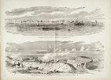 General View of the City and Harbor of Charleston, S.C., and The Bombardment of Fort Sumter. Sketched