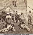 Freed Slaves, Both Men and Women are Shown Working for the Union Army