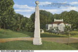 Surrender Monument and Park Administration Building, National Military Park, Vicksburg, Mississippi