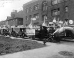 Liberty Loan Parade, parade floats, House of Crane Cigars float, 1918 (Bass #62963-F)