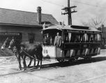 Streetcar no. 69, mule pulled (no Bass #)
