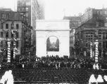 Welcome Home Day Parade, Monument Circle, victory arch, 1919 (Bass #66357-F)