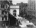 Welcome Home Day Parade, Monument Circle, Victory Arch, 1919 (Bass #66367-F)