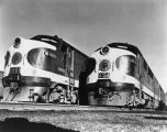 Southern railroad locomotives, no. 6801 and no. 4154, Southern Railway Co. photograph (no Bass #)