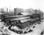 Freight Depot, view of downtown, 1920 (Bass #69938)