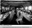 Soldiers in Dining Hall at Fort Harrison