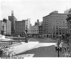 1935 View of the Southwest Quadrant of Monument Circle