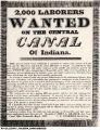 2,000 Laborers Wanted on the Central Canal of Indiana