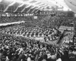 Butler University, Butler (Hinkle) Fieldhouse, interior, 1936 (Bass #234584F)