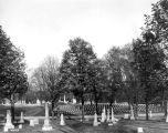 Crown Hill Cemetery, section 10 looking east, 1907 (Bass #9838)