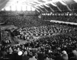 Butler University, Butler (Hinkle) Fieldhouse, interior, 1936 (Bass #234580F)