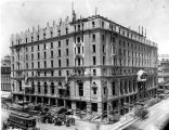 Claypool Hotel construction, 1919 (Bass #67290-F)