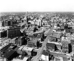 Downtown Indianapolis looking north,1962 (Bass #309595-4)