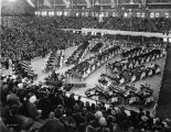 Butler University, Butler (Hinkle) Fieldhouse, interior, 1936 (Bass #234573F)