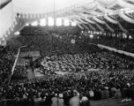 Butler University, Butler (Hinkle) Fieldhouse, interior, 1936 (Bass #234574F)