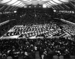 Butler University, Butler (Hinkle) Fieldhouse, interior, 1936 (Bass #237636F)
