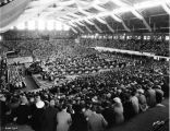 Butler University, Butler (Hinkle) Fieldhouse, interior, 1936 (Bass #234575F)