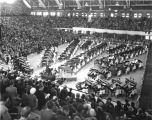 Butler University, Butler (Hinkle) Fieldhouse, interior, 1936 (Bass #234583F)