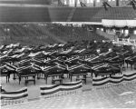 Butler University, Butler (Hinkle) Fieldhouse, interior, 1936 (Bass #234587F)