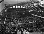 Butler University, Butler (Hinkle) Fieldhouse, interior, 1936 (Bass #234570F)