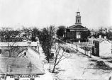 Roberts Park Methodist Church, Pennsylvania Street, circa 1860 (Bass #17804)