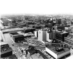 Indianapolis downtown, looking southwest,1962 (Bass #309595-12)