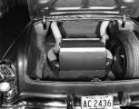 Air conditioning chamber for automobile, in trunk, circa 1957 (Bass #294492F-4)