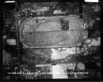 Aerial view, Speedway town and track, 30 June 1935 (no Bass #)