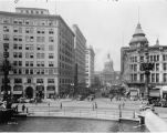 Market Street street scene looking west from Circle, Test Building 1927 (Bass #204199-F)