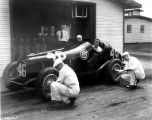 Car #46, driver, and team, 1933 (Bass #226142)