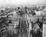 Looking north on Meridian Street from Monument,1929 (Bass #214087-F)
